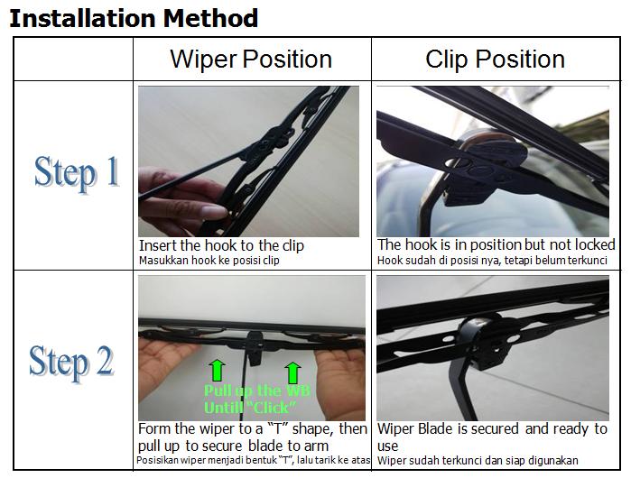 Cara Pasang Wiper dengan Clip Baru